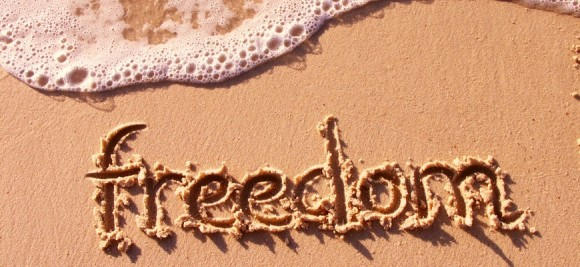 words in sand freedom